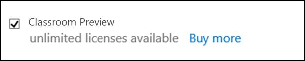 Screenshot shows Classroom Preview check box selected.