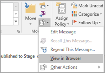 Print a page or part of an email message - Outlook