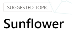 """Image of a topic with a """"suggested"""" banner"""