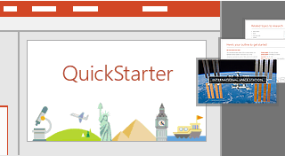 PowerPoint QuickStarter feature