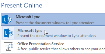 Present Online with Microsoft Lync