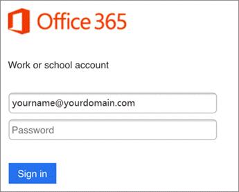 Enter O365 password