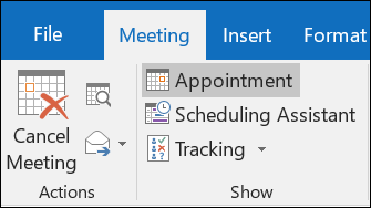 Cancel a meeting - Outlook