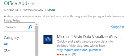 Shows Data Visualizer add-in in Excel