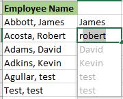 automatically fill data