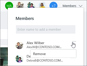 Remove members from a plan