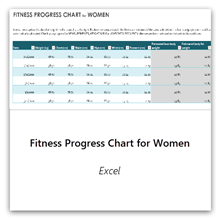 Select this to get the Fitness Progress Chart for Women template.