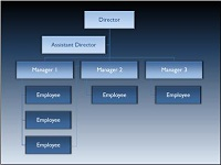SmartArt custom animation effects: organization chart