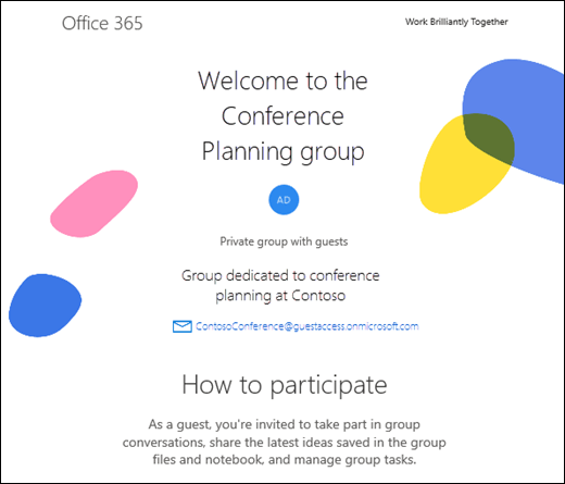 Adding guests to Office 365 Groups - Outlook