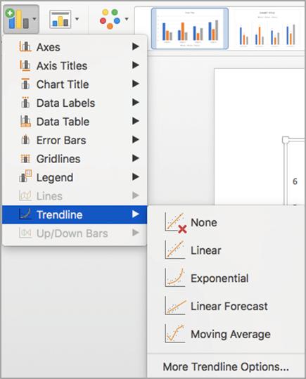Trendline options
