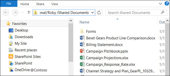 """File Explorer after selecting """"Open with Explorer"""" option"""