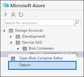 Right-click the file or manifest container and then click Detach to disconnect