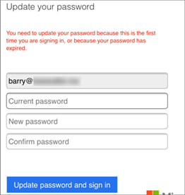 Type your new password.