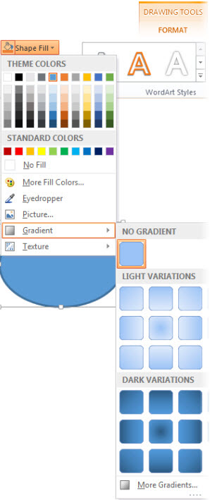 Add a gradient color to a shape - Office Support