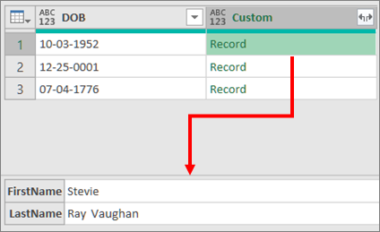 Expand a Record Complex column