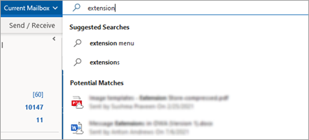 Get relevant file suggestions when you search