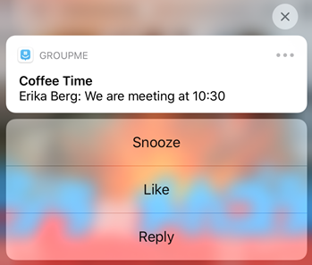 snooze chat on mobile