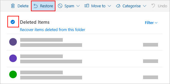 Restore deleted email messages in Outlook com - Outlook
