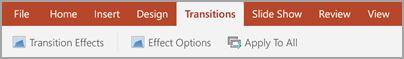 Transitions tab