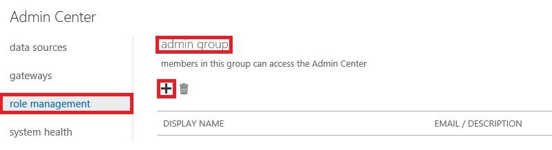 Admin Center - Add Co Admins