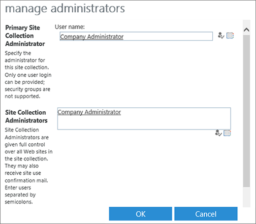 Manage administrators for a site collection SharePoint – Sharepoint Administrator Duties
