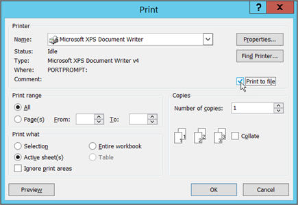 Print A Workbook To File