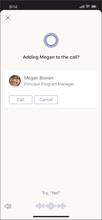 Cortana mobile: add person screen