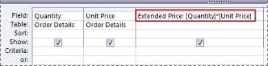Using an expression to create a calculated field in a query