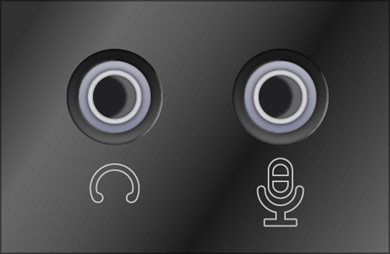 headphone and microphone sound system jacks