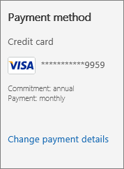 "Screenshot showing the ""Change payment details"" link."