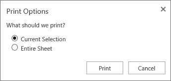 print selected cells