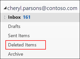 If you see the Deleted Items folder, you can recover deleted items.