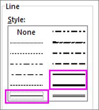 line styles