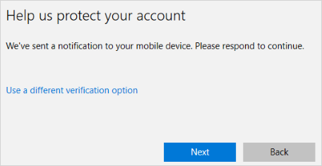 Mobile notification screen