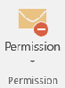 Use the Permission button to assign rights to your message
