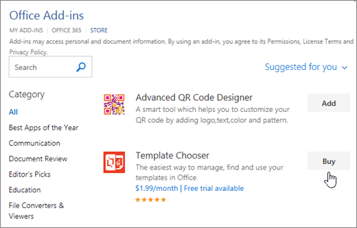 Get an Office Add-in for Word - Word