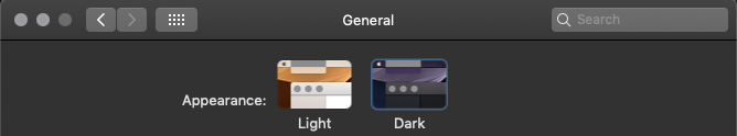 Preferences - Dark Mode
