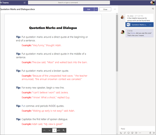 Ace a group project in Microsoft Teams - Office Support