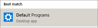 Default programs in Windows