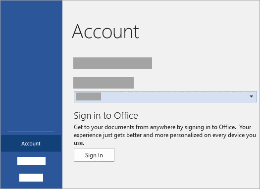 Sign in with your Microsoft Account or Office 365 work or school account.