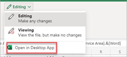 Opens app in desktop