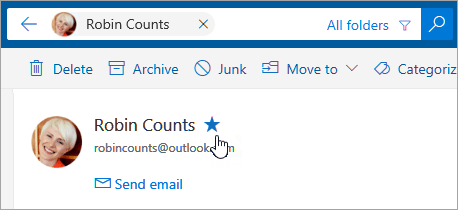 Search Mail and People in Outlook com - Outlook