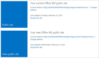 Manage public websites in Office 365 for small business