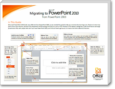 Thumbnail of PowerPoint 2010 Migration Guide