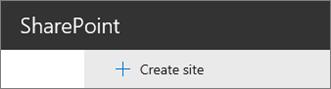 Create Site command