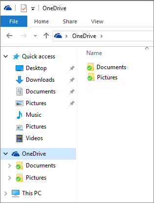 OneDrive in File Explorer