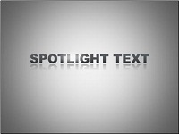 Custom animation effects: spotlight text