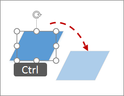 Copying a shape by Ctrl clicking