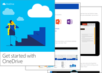 A thumbnail image of the Get started with OneDrive eBook.