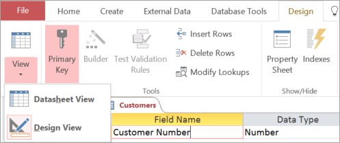 Video Build Tables With The Table Designer Access